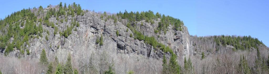 Habitat du Faucon pèlerin, parois du mont Larose, Montcalm